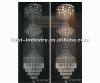 2012 Top-class pure k9 crystal hotel lamp,by Meerosee,supplier of 6-star hotel