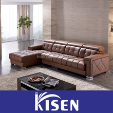 Home furniture sectional corner leather sofa company
