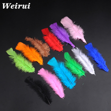Cheap colorful party duck feather for DIY and wedding decoration