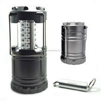 Outdoor collapsible LED rechargeable camping lantern