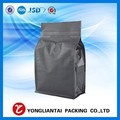 Customized stand up coffee bag matte foil laminated zipper packaging flat bottom bag