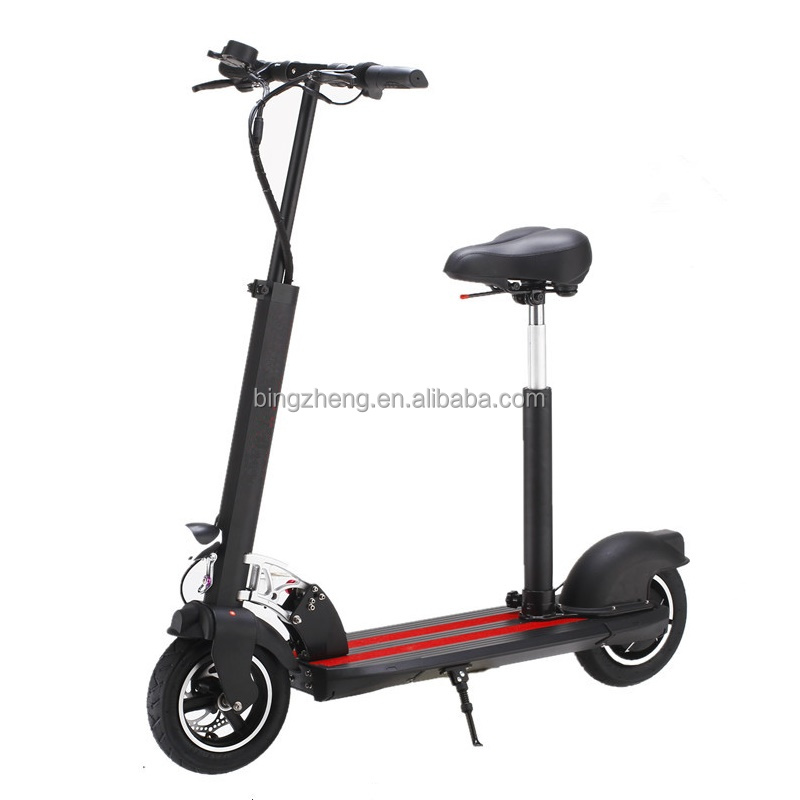 electric foldable standing scooter with seat for adults