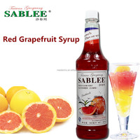 SABLEE French Red Grapefruit Flavor Syrup S226 Halal Products Soft Drinks 900ml