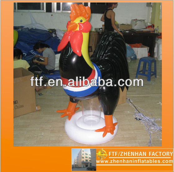 2013 new style advertising 0.8 m H PVC inflatable rooster