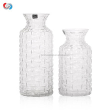Wholesale Long Wave Narrow Mouth Glass Vase Floral Glass Vase. Ideal for Weddings, Special Occassions