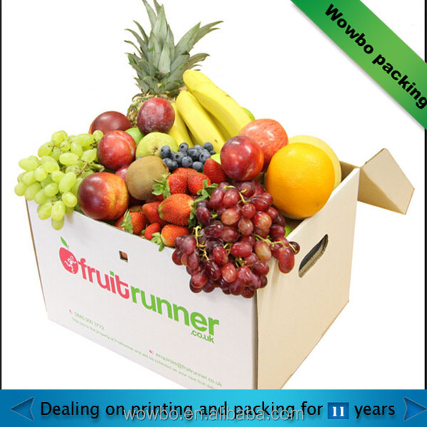High quality custom corrugated fruit carton box/fruit storage box for food container