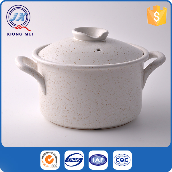 New design european style pure white cookware hot pot casserole