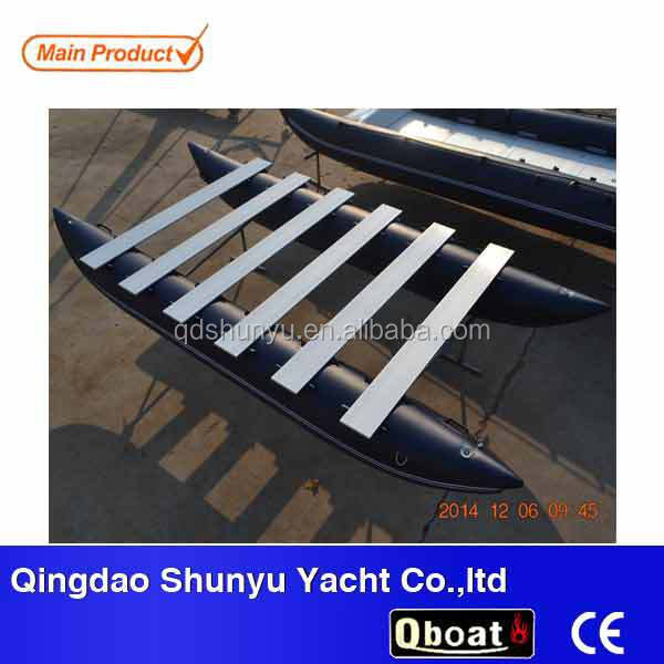 hot!!!(CE)14ft inflatable pvc pontoon boat fishing