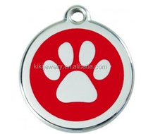 round enamel dog print dog paw metal custom charms