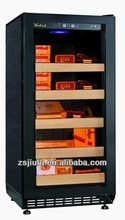 JF-80CF,load 800pcs black wood grain and wine cigar refrigerator