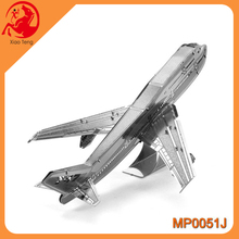 Assembly Mini 3D Metal Mordent 747 Plane Series 3D Metal Model Toy Puzzle