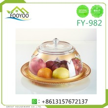 FY-982 clear acrylic fruit plates nut food fruit tray with lid organizer