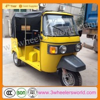 Africa Hot Sale Gasoline Popular Cheap Motorized Three Wheel Passenger Bajaj Tuk Tuk Motorcycle
