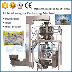 Shrimp & Asian chive dumplings packaging machine