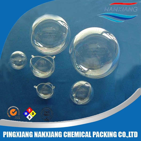 Openable 100mm transparent hollow plastic ball