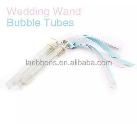 Wedding water bubble tubes satin ribbon decoration