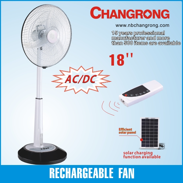 rechargeable solar powered plastic pedestal fan