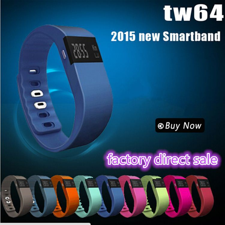 2017 New Smart Band Sport Bracelet Wristband Fitness Tracker Bluetooth Dayday Band TW64 Smart Bracelet