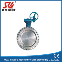 DN80 PN16 Flanged type three eccentric manual butterfly valve