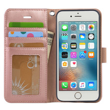 Pink Fashion Factory Price New Product Phone Case For Apple Iphone 6 Case Leather Wallet Phone Case