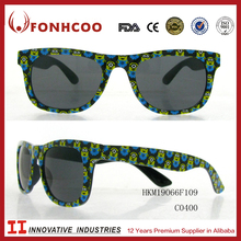 FONHCOO Gifts !!! Promotional OEM Famous Cartoon People Printed Rim Kid's Metal Sunglasses