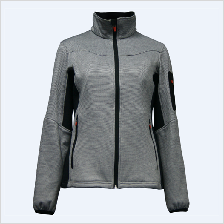 China Cheap women winderbreaker grey fleece jacket imported from china