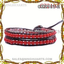 Classical nepal glass beaded bracelet hematite manufacturing wholesale products