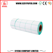 Blank Logistics Stickers adhesive tape roll Glue premium coated Paper