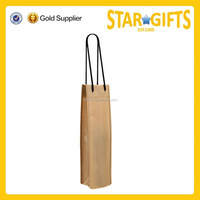 Promotional Handled Type Single Bottle Carrier tote Non Woven Wine Glass Bag