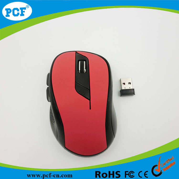 2016 New arrival 6D optical mouse Cordless ,computer personalized wireless mouse with rubber oil painting