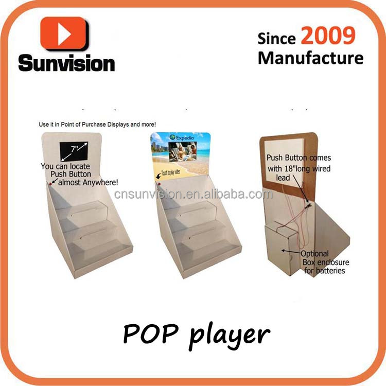 Lcd pop player in supermarket for POP POS advertising with customized printing