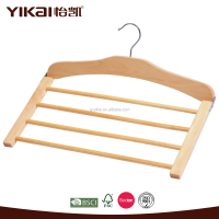 clothes clothing type and movable style wooden space saving suit hanger