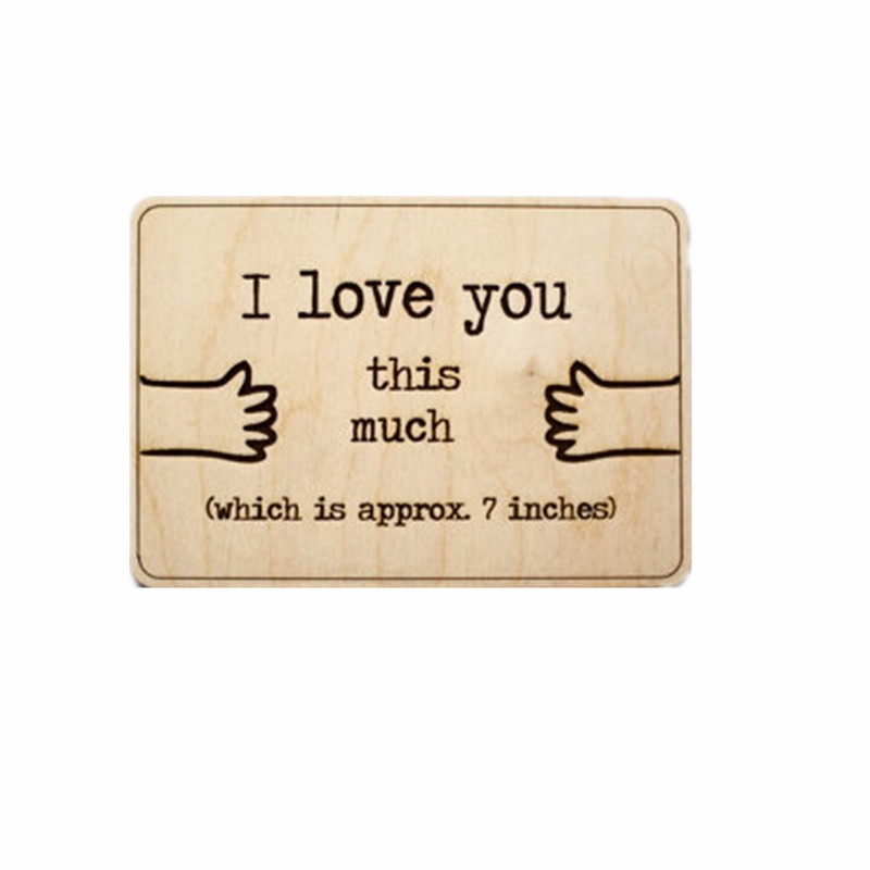 Wooden Engraved Greeting Card/thank you card