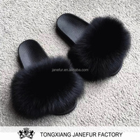 New Design Lady Fox Fur Pvc