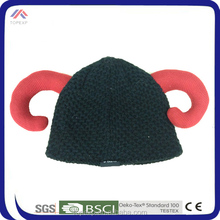 100% acrylic new fashion animal knit hat weave weave knit hat