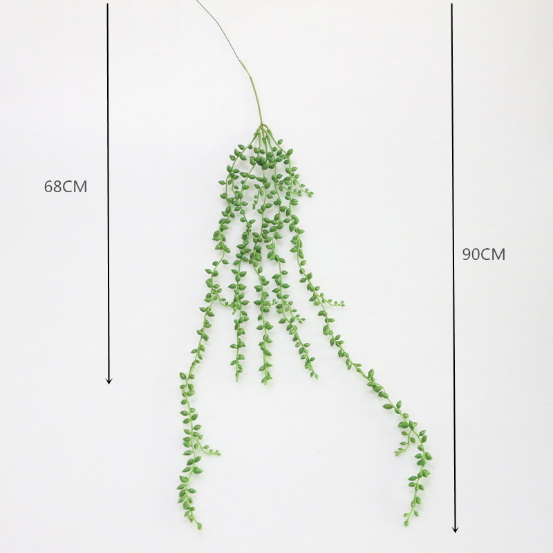 Flone 3 Branch Simulation Succulents Lover Tears Green Rattan Wall Hangings Artificial Plant Home Home Party Leisure Decor (10)