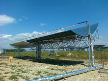 Tracking sun parabolic trough solar collectors solar water heaters