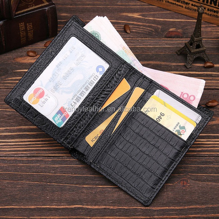 2016 wholesale mens wallet crocodile leather