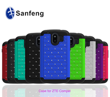 Hard back phone cover case for zte 830 compel free sample cover with bling bling