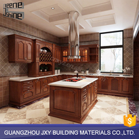 Kitchen cabinet accessories customized fancy wood kitchen cabinets