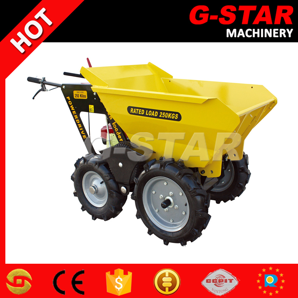 BY250 agriculture power wheelbarrow on tracks for sale