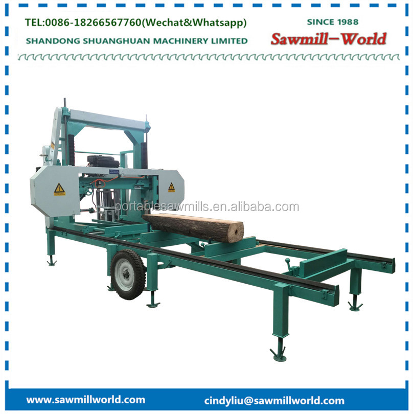 Shandong shaunghuan horizontal bandsaw woof cut off saw mill