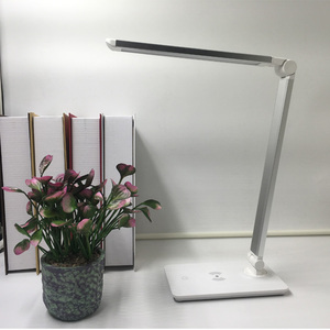 Dimmable Modern Office Wireless Charger Touch QI Light Decorate Hotel Led Table Lamp For Reading