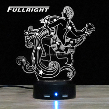 3d lights lamp 3d illusion custom 3d lamp Aquarius