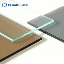 Hexad 3-19mm Clear Float Glass Glass Price m2 Safty Toughen Glass