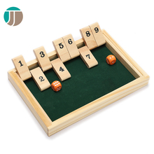 Wooden Customized Shut The Box Table Game Pieces Board Game Box
