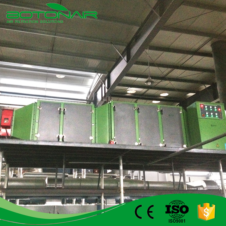 PVC Foamed Man-made Leather Making Line Eletrostatic System for Oil Smoke Cleaning
