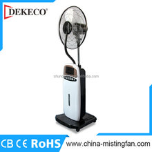 New design stand remote control mist fan with anion air purifier