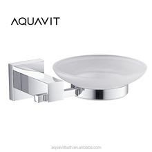 AQUAVIT Elegant Bathroom Accessories for shower brass Wall Mounted Chrome Glass soap dish