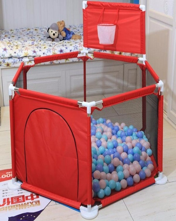 Customized 6 panel playpen crib for baby